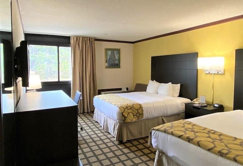 Baymont by Wyndham Queensbury / Lake George, קווינסברי, חדר, 2 מיטות קווין, נגישות לנכים, ללא עישון, חדר אורחים