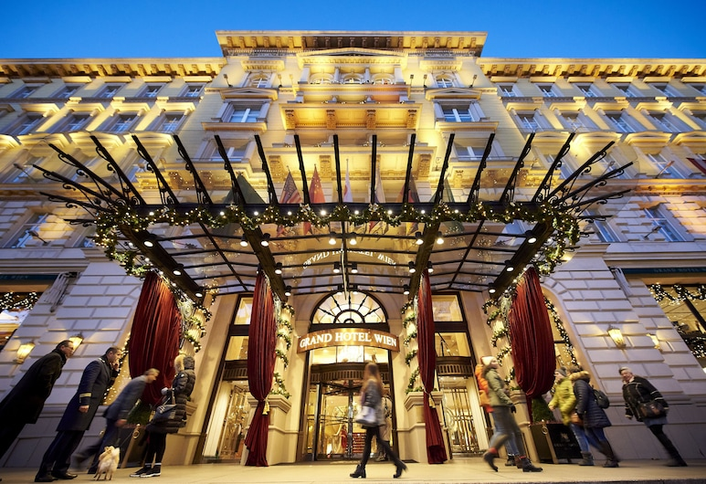 Grand Hotel Wien, Vienna, Hotel Front – Evening/Night