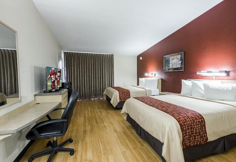 Red Roof Inn & Suites Brunswick I-95, ברונסוויק, חדר סופריור, 2 מיטות קווין, ללא עישון, חדר אורחים