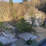 Uitzicht op tuin