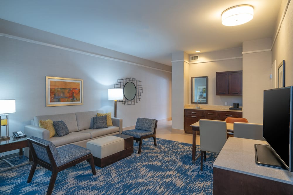 Suite, 2 camas dobles, para no fumadores - Sala de estar
