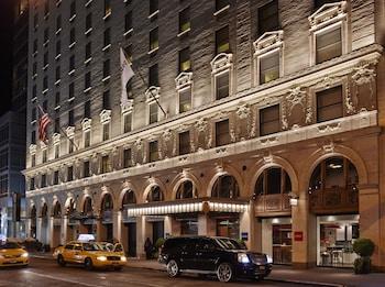 뉴욕의 파라마운트 타임 스퀘어 사진