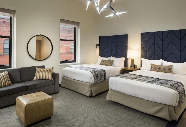 Hotel Indigo Boston Garden, Μπόστον, Δωμάτιο, Περισσότερα από 1 Κρεβάτια, Μη Καπνιστών, Δωμάτιο επισκεπτών
