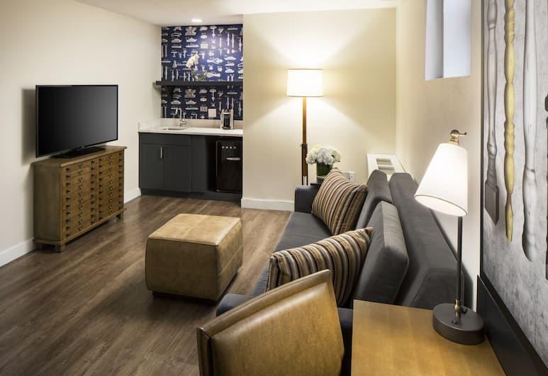 Hotel Indigo Boston Garden, Boston, Suite, 1 queensize-seng, ikke-røyk, Gjesterom