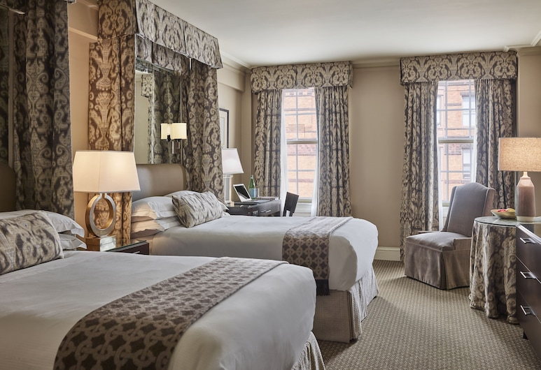 The Eliot Hotel, Boston, Deluxe Double Room, 2 Double Beds, Guest Room