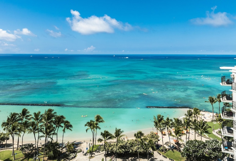 Aston Waikiki Beach Tower, Honolulu, Premium Suite, 2 Bedrooms, Oceanfront, Beach