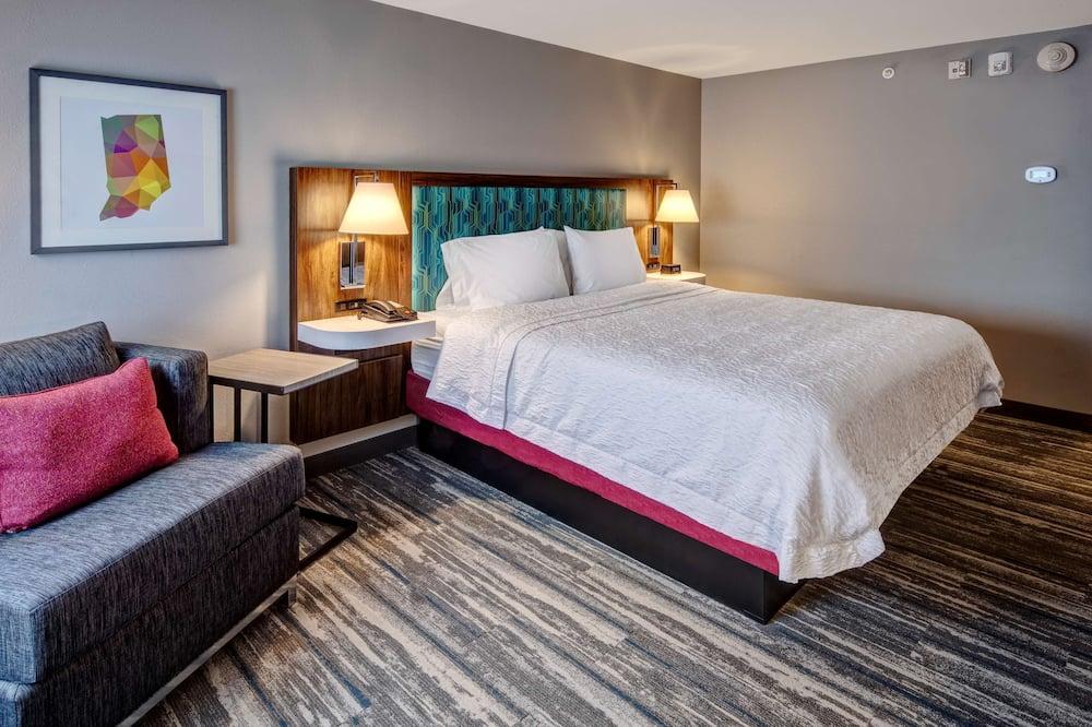 Zimmer, 1King-Bett, barrierefrei (Hearing) - Wohnbereich