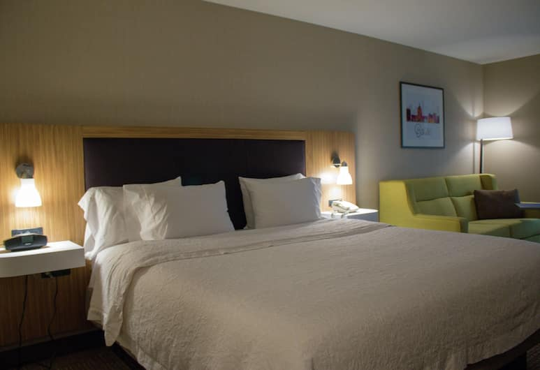 Hampton Inn Boise - Airport, Boise, Room, 1 King Bed with Sofa bed, Non Smoking, Living Area