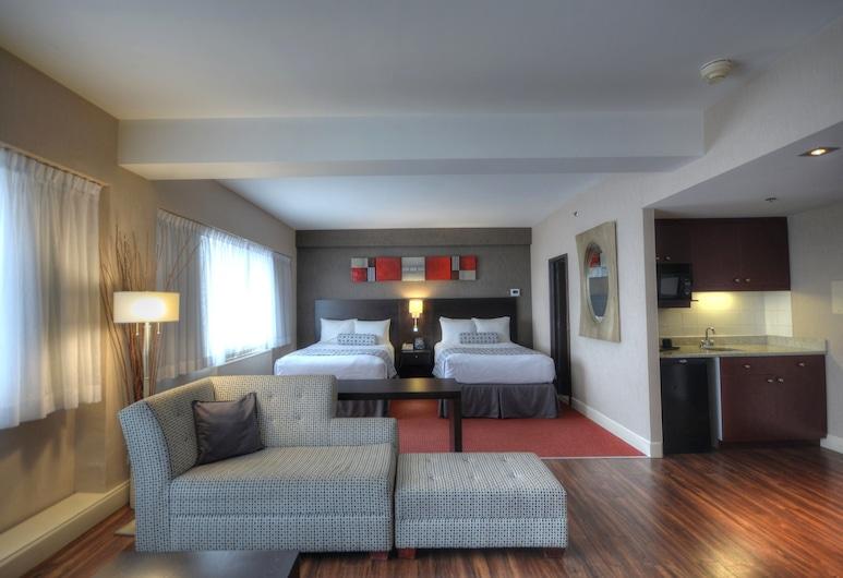 Crowne Plaza Montreal Airport, an IHG Hotel, มอนทรีออล, ห้องจูเนียร์สวีท, เตียงใหญ่ 2 เตียง, ปลอดบุหรี่, ห้องพัก
