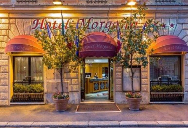 摩甘納酒店, 羅馬, 酒店入口
