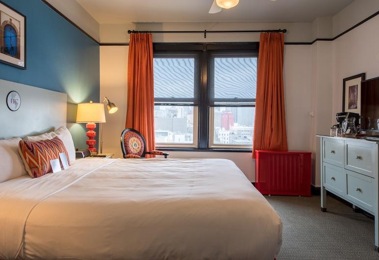 โรงแรมคาร์ลตัน - ในเครือจัวเดอวีฟวร์บูทีคโฮเทล, ซานฟรานซิสโก, ห้องดีลักซ์, เตียงคิงไซส์ 1 เตียง, ห้องพัก