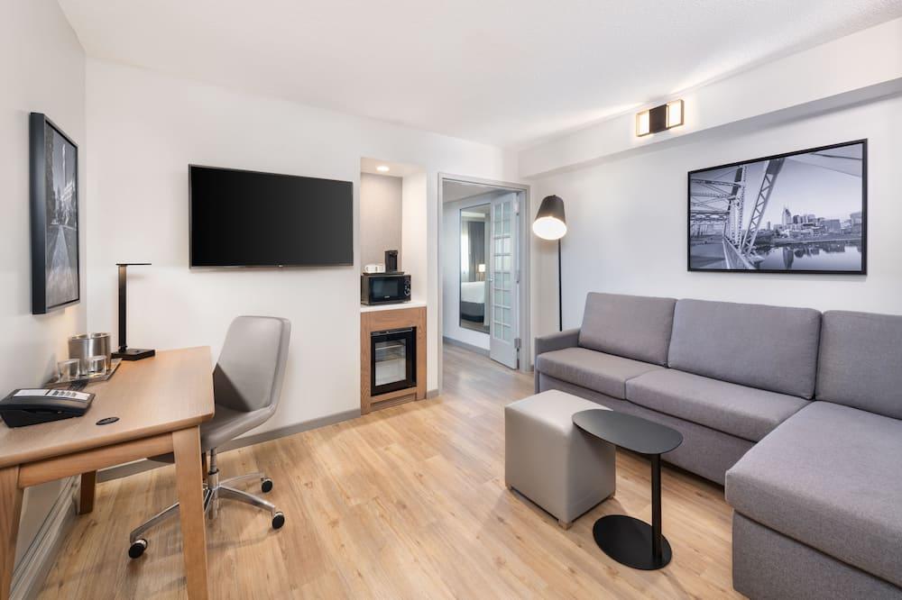 Suite, 1King-Bett, Nichtraucher (1 Bedroom) - Wohnzimmer