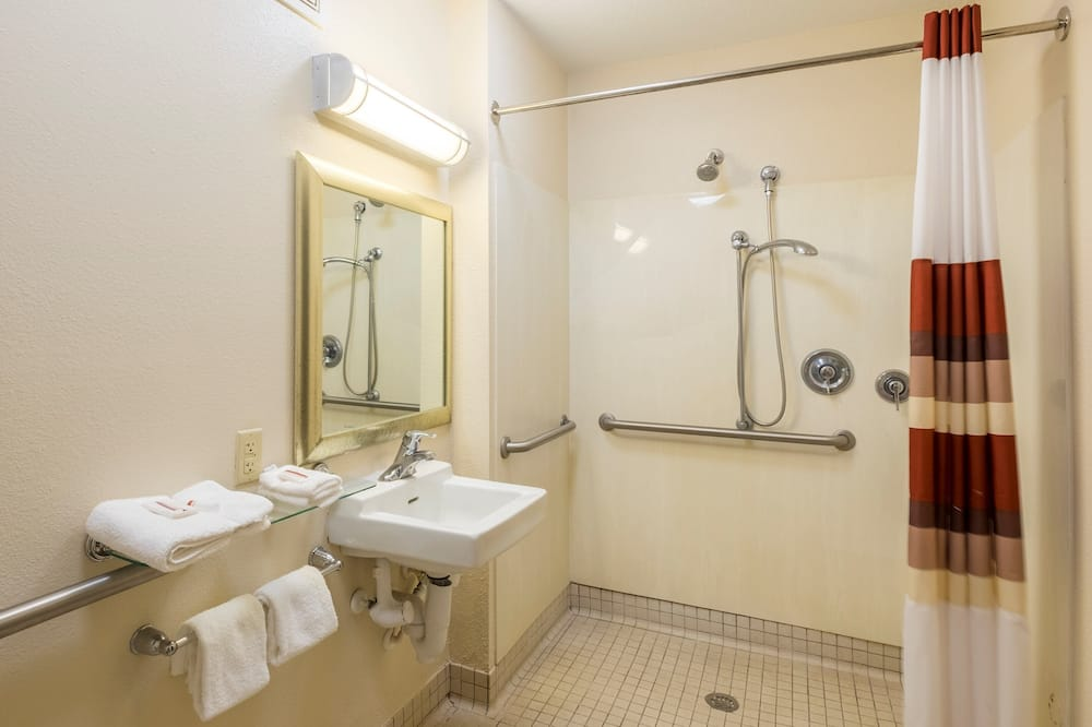Standard Room, 1 King Bed, Accessible, Non Smoking (Roll-in Shower) - Bathroom
