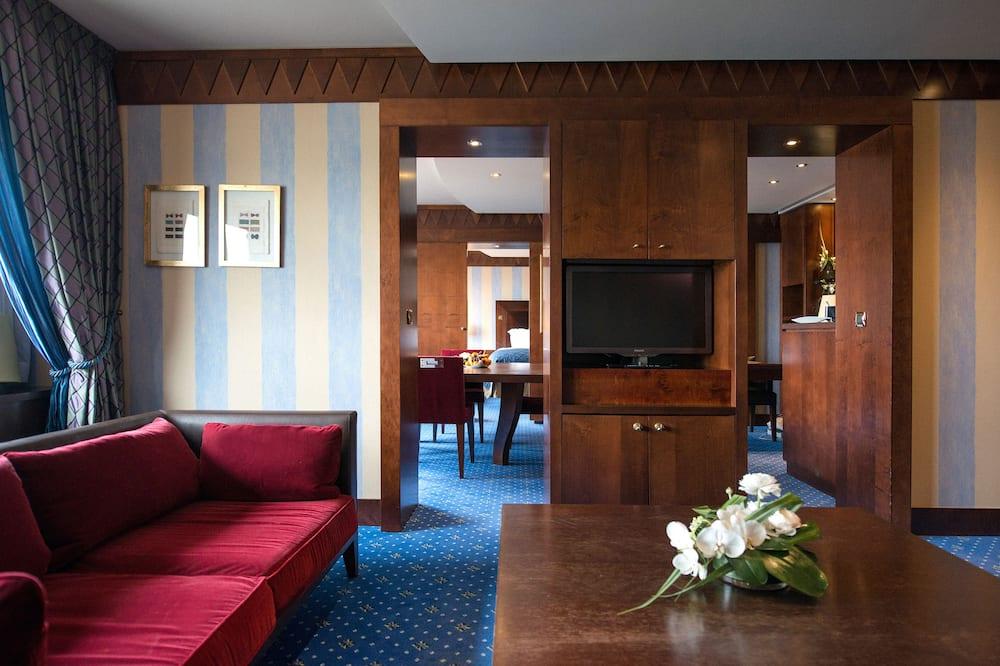 Apartmán, 1 dvojlôžko, výhľad na rieku - Obývacie priestory