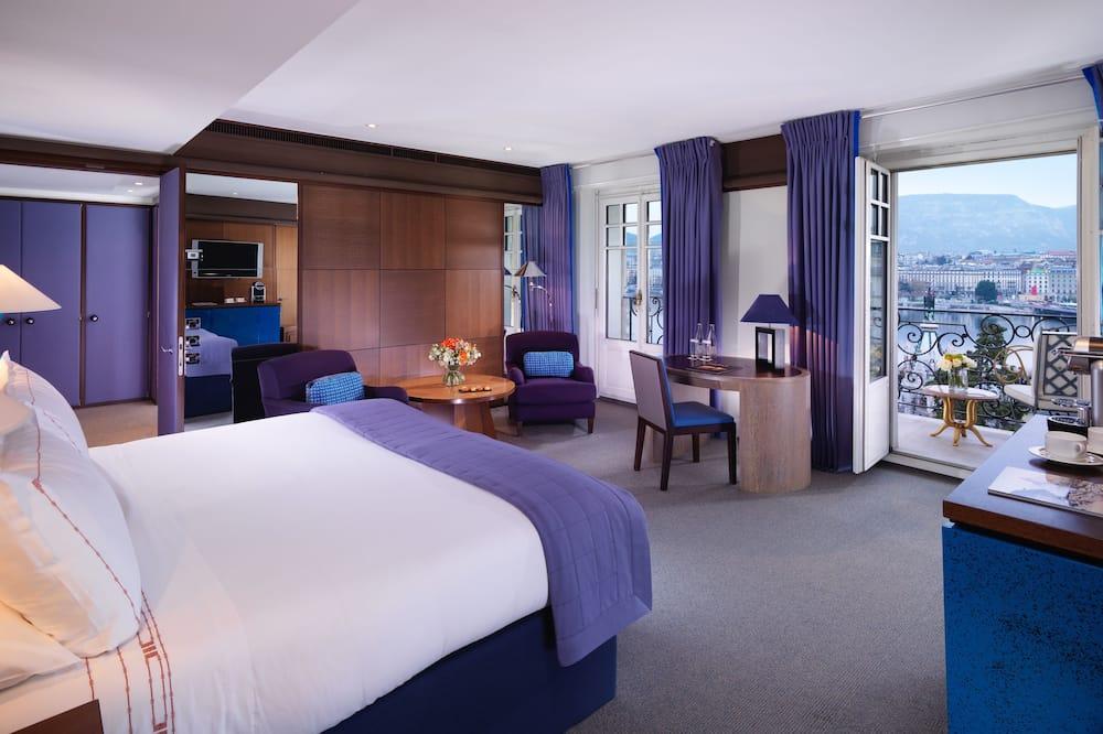Junior suite, uitzicht op meer - Woonruimte