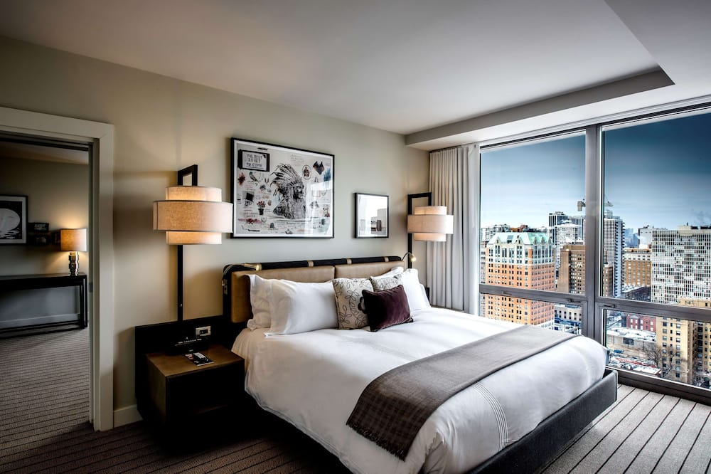 Oda, 1 En Büyük (King) Boy Yatak, Köşe - Şehir Manzaralı