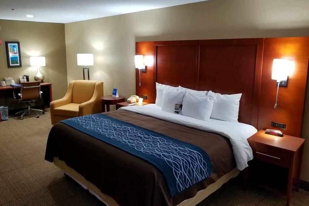 חדר סטנדרט, מיטת קינג, ללא עישון, מקרר ומיקרוגל - חדר אורחים