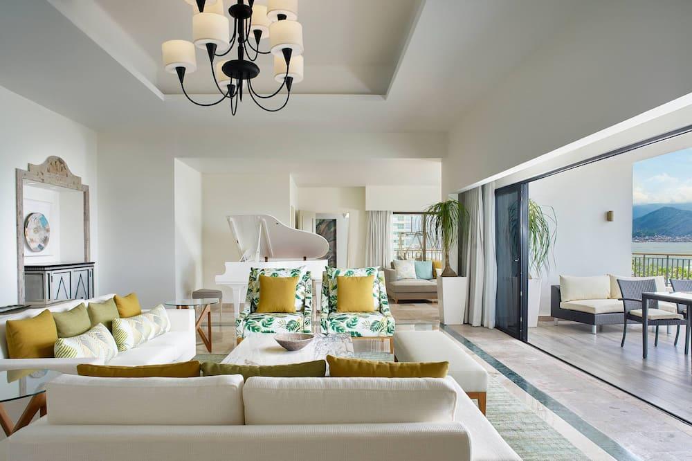 Suite presidencial, 1 habitación, no fumadores, vistas a la bahía - Zona de estar