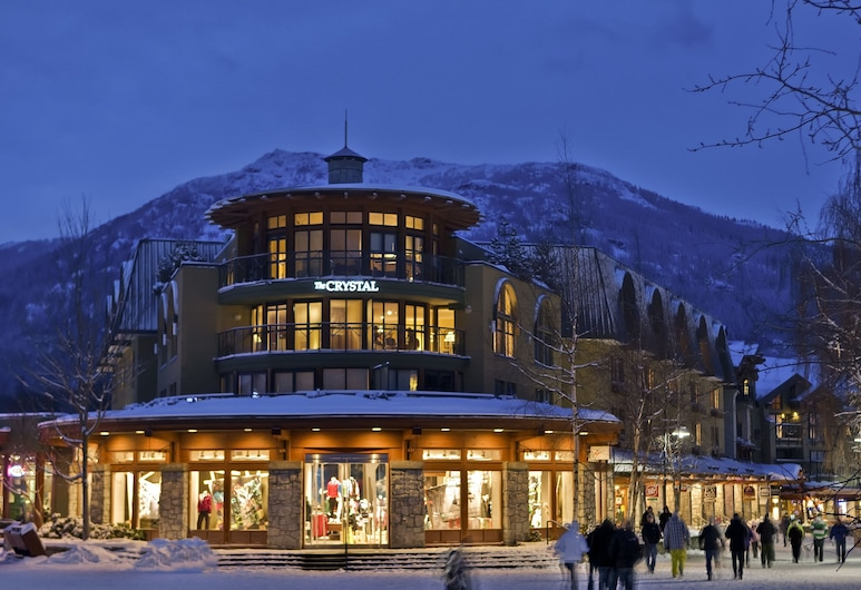 Crystal Lodge, Whistler, Hotel Front – Evening/Night