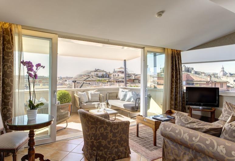 Hotel Nazionale, Rome, Suite (La Dolce Vita), Living Area