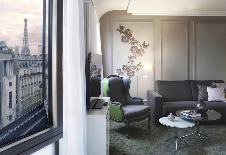 文藝復興巴黎諾貝爾埃菲爾鐵塔飯店, 巴黎, 普通套房, 1 張特大雙人床, 非吸煙房, 高層 (Eiffel Tower), 客房
