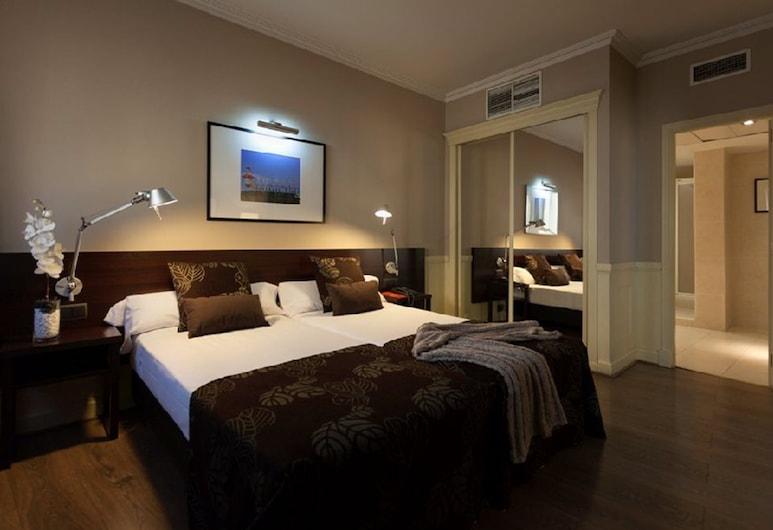 Hotel Cortezo, Madrid, Apartmá s ložnicí a obývacím koutem, dvojlůžko, Pokoj