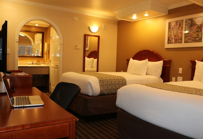 Alexis Park Hotel, San Francisco, Standard Double Room, 2 Double Beds, Guest Room