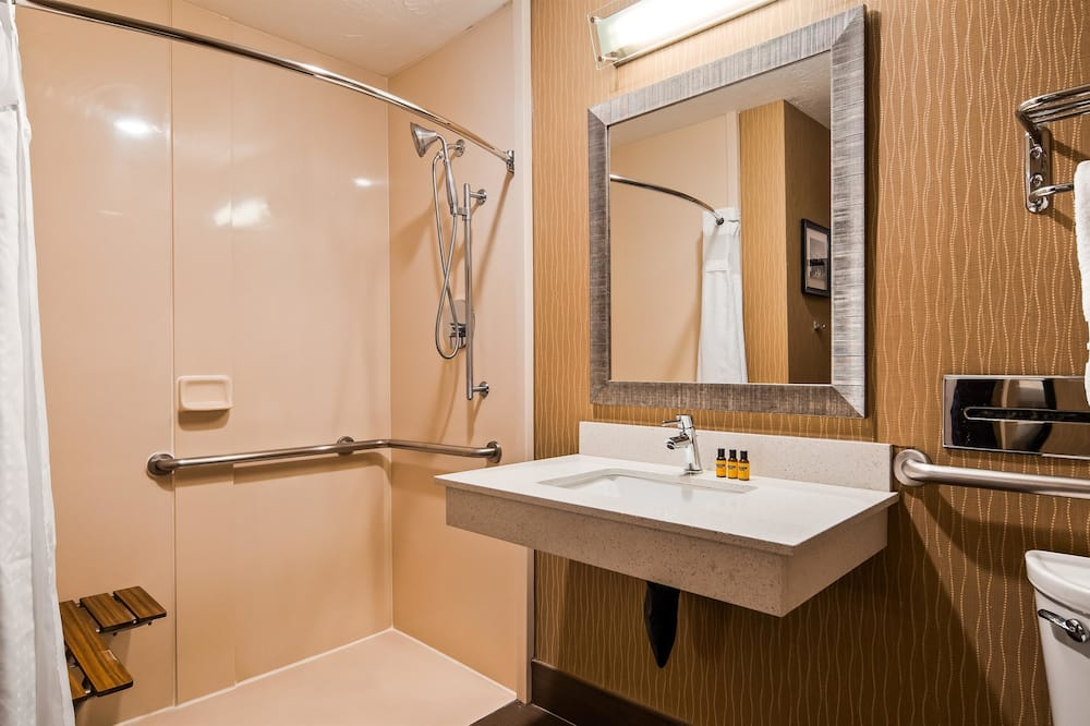 Standard Room, 1 King Bed, Accessible, Non Smoking - Bathroom