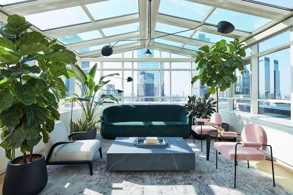 Suite, 1 cama King size (London Atrium) - Sala de estar