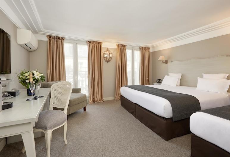 호텔 루브르 몬타나, 파리, 디럭스 쿼드룸, 객실 전망