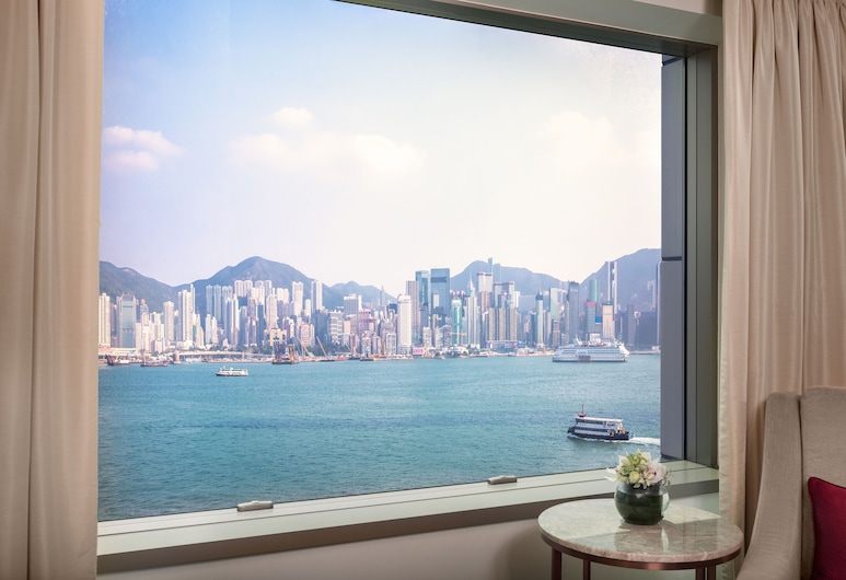 InterContinental Grand Stanford Hong Kong, Kowloon, Club-rum - utsikt mot hamnen (Intercontinental), Utsikt från gästrum
