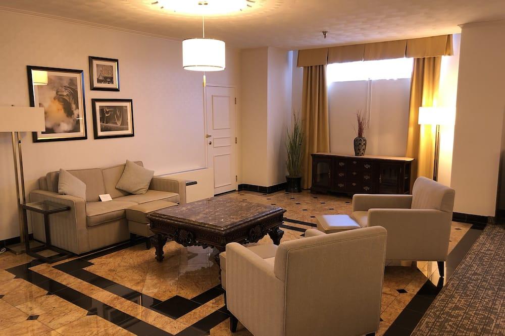Apartmán, 1 extra veľké dvojlôžko s rozkladacou sedačkou, nefajčiarska izba - Obývacie priestory