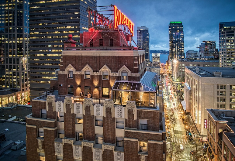 Hotel Theodore, Seattle, Hotel Front – Evening/Night