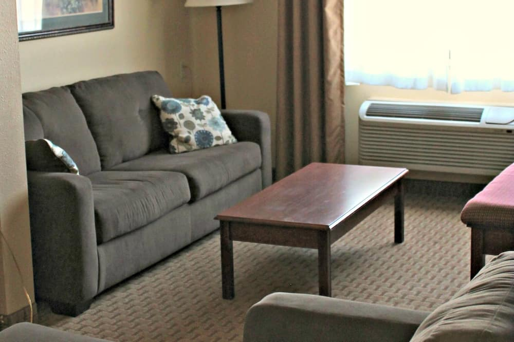 Lakosztály, 1 king (extra méretű) franciaágy és egy kihúzható kanapé, hidromasszázskád - Nappali rész