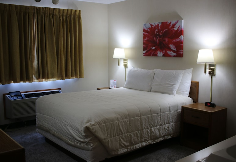 Red Carpet Inn & Suites, Sioux City Norte, Habitación, 1 cama Queen size, para no fumadores, bañera de hidromasaje, Habitación