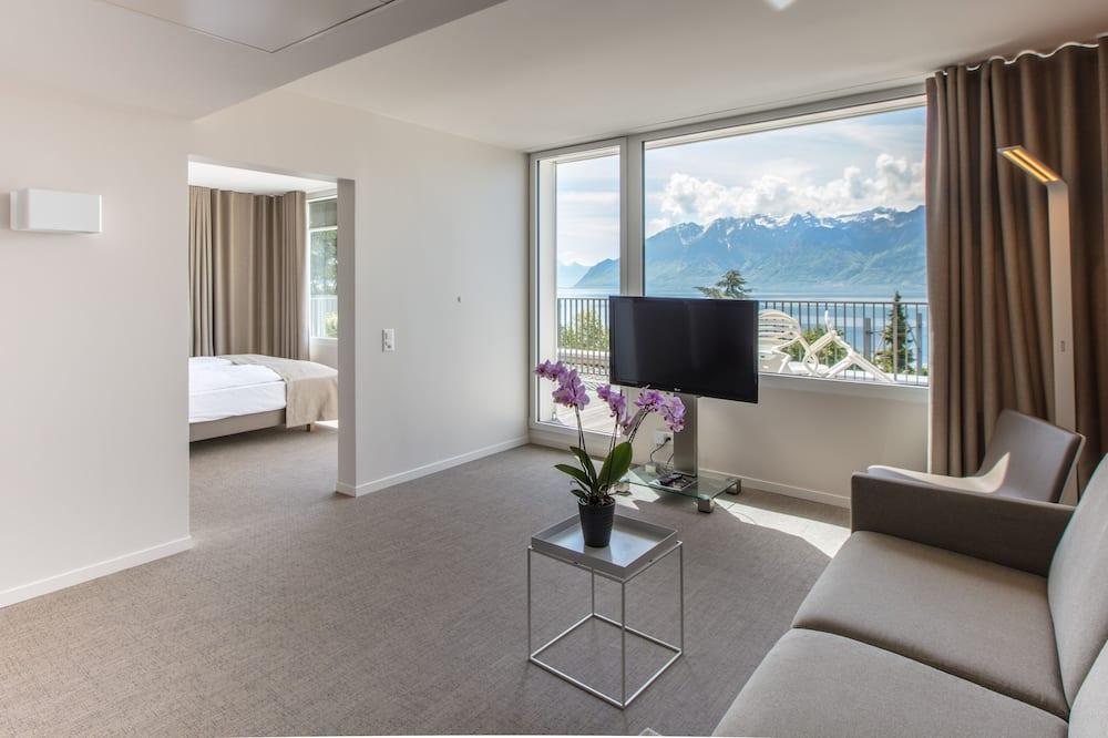 Suite, terrazzo, vista lago - Area soggiorno