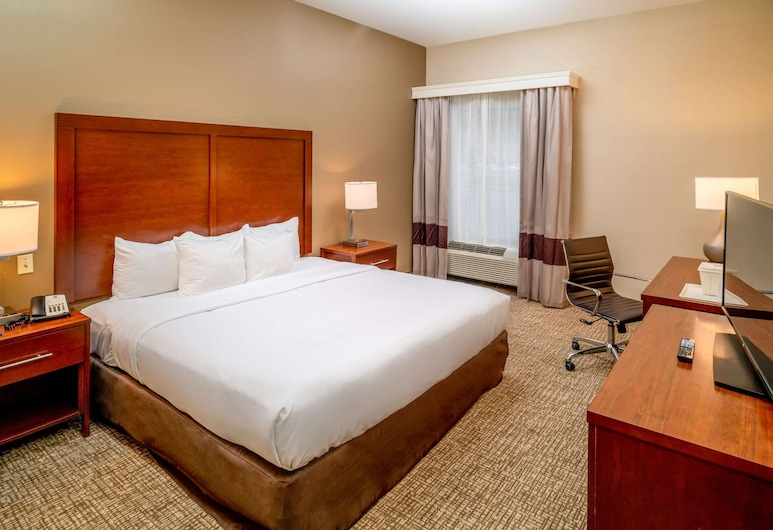 Comfort Inn & Suites, Grundy, Room, 1 King Bed, Accessible, Non Smoking (Transfer Shower), Guest Room