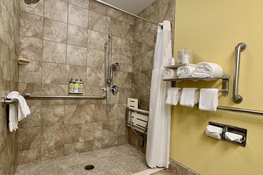 Habitación, 1 cama King size, con acceso para silla de ruedas (Roll-In Shower) - Baño