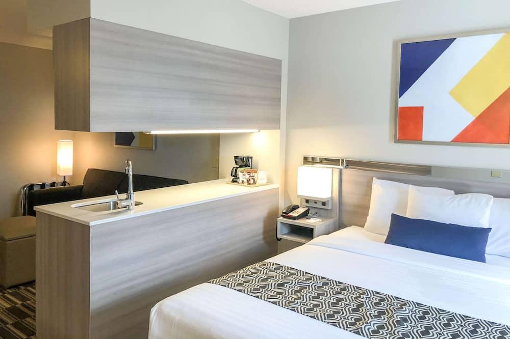 Štúdiový apartmán, 1 veľké dvojlôžko, bezbariérová izba, nefajčiarska izba - Hosťovská izba