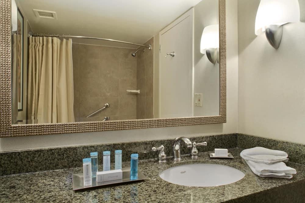 ห้องพัก, พร้อมสิ่งอำนวยความสะดวกสำหรับผู้พิการ - ห้องน้ำ