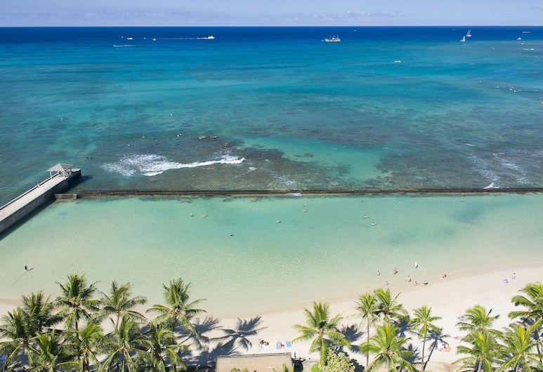 Aston Waikiki Beach Hotel, Honolulu, Room, 1 King Bed, Oceanfront, Beach/Ocean View