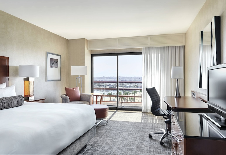 Marriott Marina del Rey, מרינה דל ריי, Concierge Room, חדר, מיטת קינג, ללא עישון, נוף למרינה, חדר אורחים