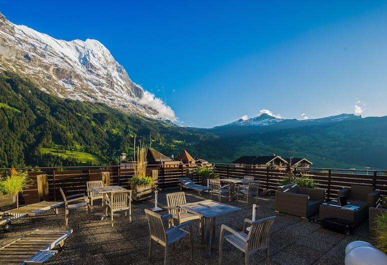 Hotel Kreuz & Post, Grindelwald, Comfort eenpersoonskamer, Terras