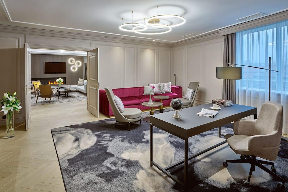 ห้องเพรสซิเดนเชียลสวีท, 1 ห้องนอน - พื้นที่นั่งเล่น