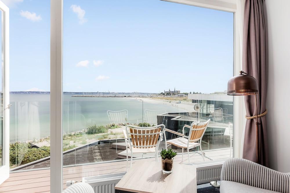 Strand & Badehotel Marienlyst, Helsingor, Superior dobbeltrom, utsikt mot sjø, Gjesterom