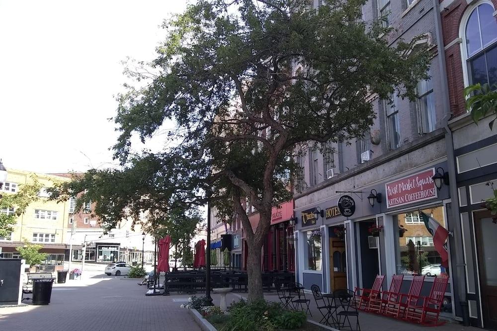 Одноместный номер «Премьер», 1 двуспальная кровать, для некурящих, вид на город - Вид на улицу