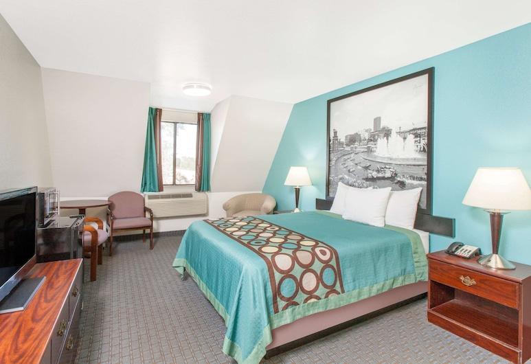 Super 8 by Wyndham Sallisaw, Sallisaw, Standartinio tipo kambarys, 1 didelė dvigulė lova, Svečių kambarys
