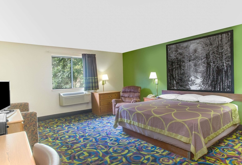 Super 8 by Wyndham Radford VA, Radford, Habitación, 1 cama King size, Habitación