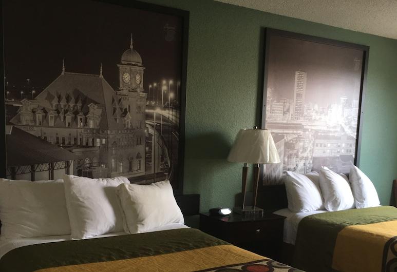 Super 8 by Wyndham Richmond Midlothian Turnpike, Ričmonda, Standarta numurs, 2 divguļamās gultas, smēķētājiem, Viesu numurs