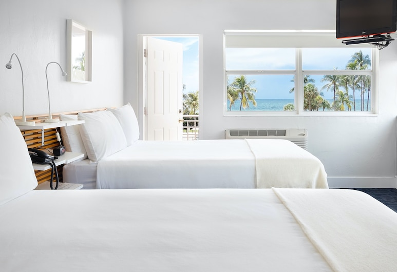 ロレーヌ ホテル , マイアミ ビーチ, デラックス ルーム クイーンベッド 2 台, 部屋